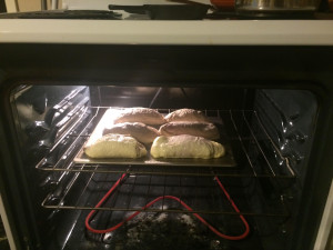 Baking away! My kitchen smelled delicious.