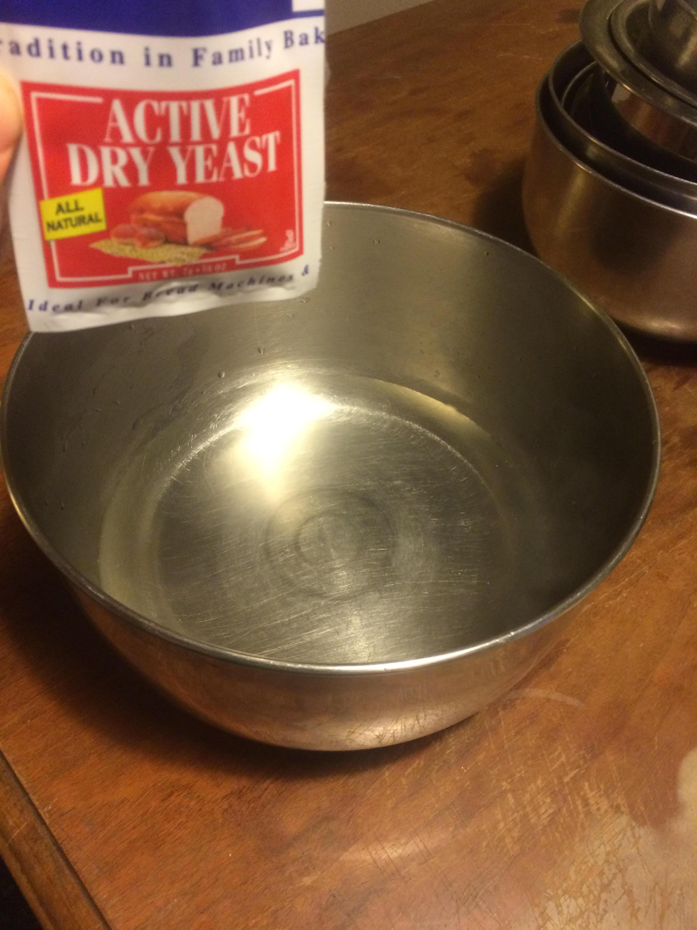 Adding Yeast to Warm Water